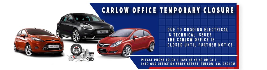 Carlow Office Temporary Closure